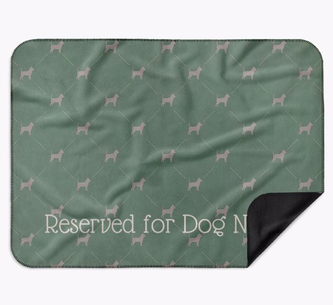 Personalised 'Reserved For' Blanket with Chihuahua Silhouette Print