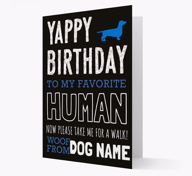 Personalized 'Now Please Take Me for a Walk' Birthday Card