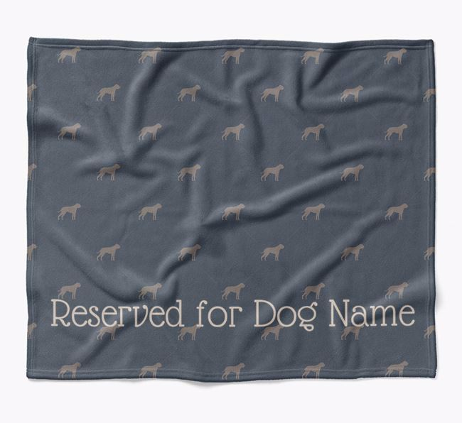 Personalised 'Reserved For' Blanket with American Bulldog Silhouette Print