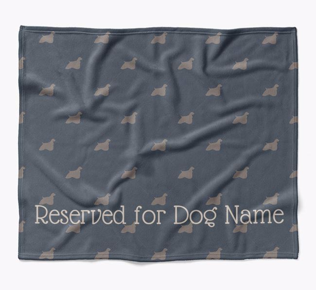 Personalised 'Reserved For' Blanket with American Cocker Spaniel Silhouette Print