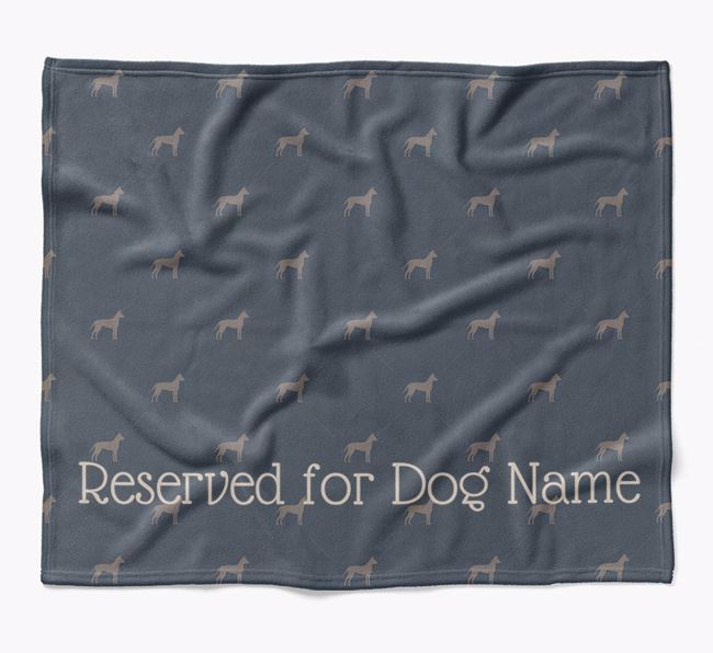 Personalised 'Reserved For' Blanket with American Hairless Terrier Silhouette Print
