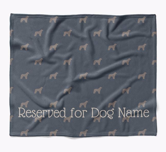 Personalised 'Reserved For' Blanket with Aussiedoodle Silhouette Print