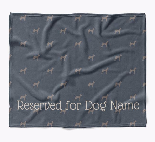 Personalised 'Reserved For' Blanket with Basenji Silhouette Print