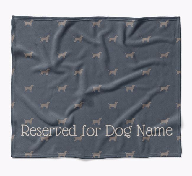 Personalised 'Reserved For' Blanket with Bassador Silhouette Print