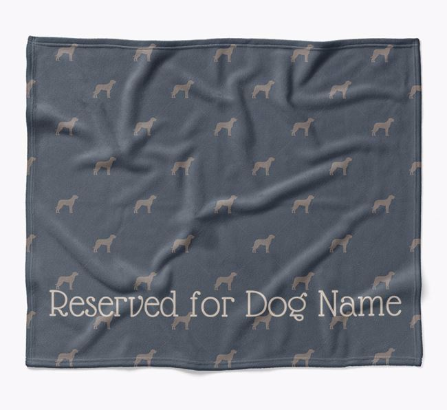 Personalised 'Reserved For' Blanket with Beauceron Silhouette Print