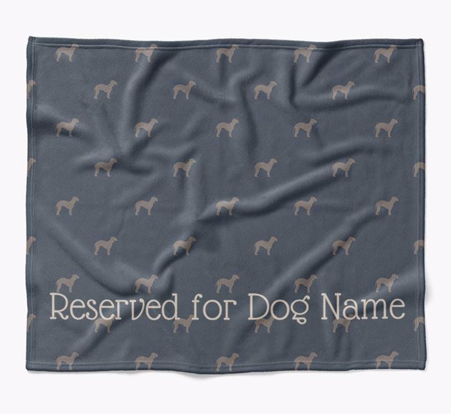 Personalised 'Reserved For' Blanket with Bedlington Terrier Silhouette Print