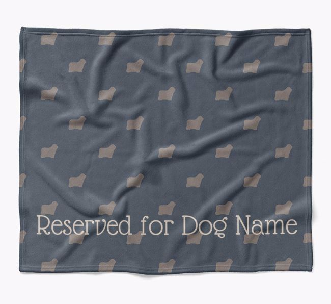 Personalised 'Reserved For' Blanket with Bergamasco Silhouette Print