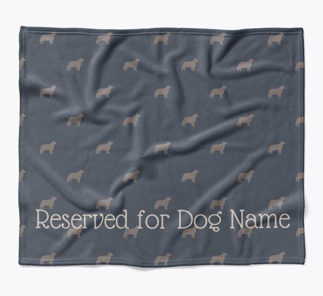 Personalised 'Reserved For' Blanket with Bernese Mountain Dog Silhouette Print