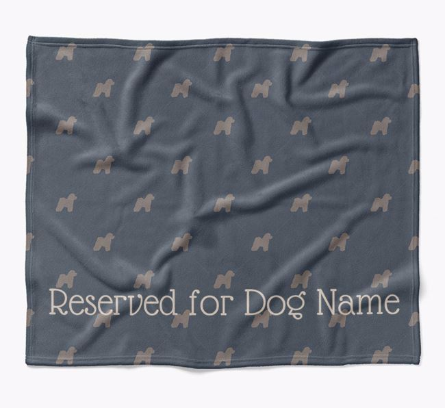 Personalised 'Reserved For' Blanket with Bichon Frise Silhouette Print