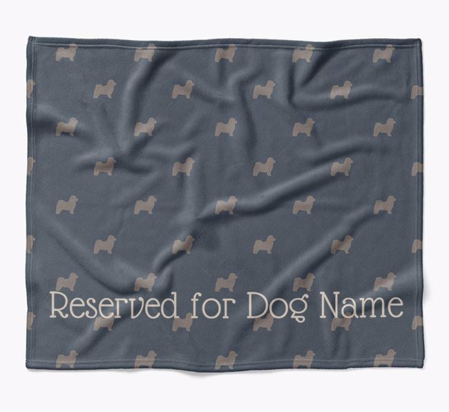 Personalised 'Reserved For' Blanket with Bolognese Silhouette Print