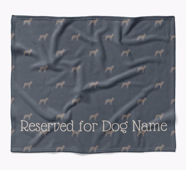 Personalised 'Reserved For' Blanket with Boston Terrier Silhouette Print