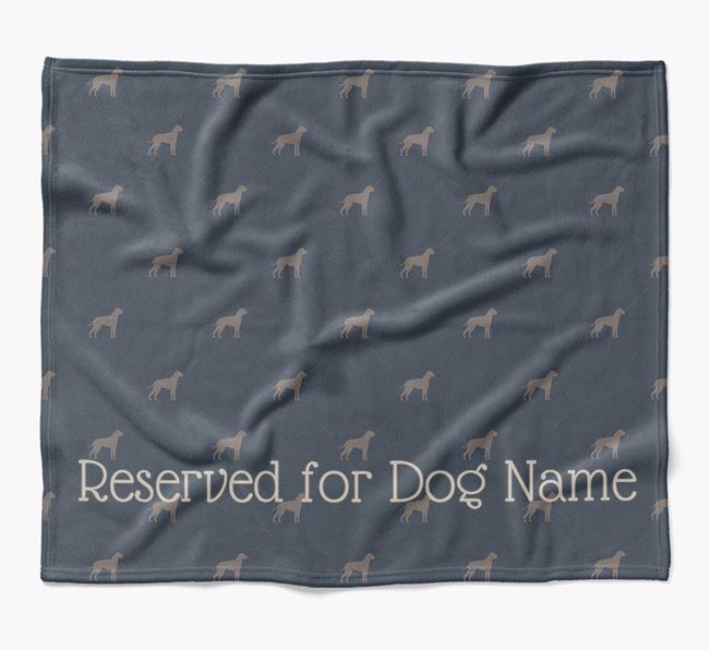 Personalised 'Reserved For' Blanket with Boxer Silhouette Print