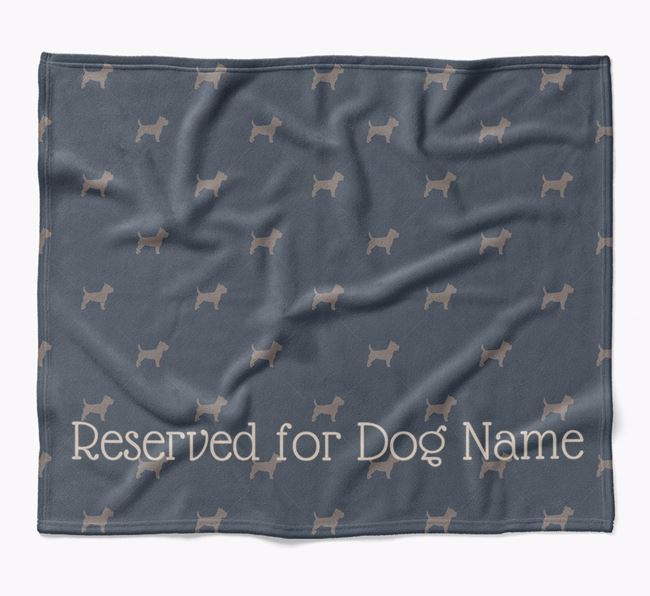 Personalised 'Reserved For' Blanket with Cairn Terrier Silhouette Print