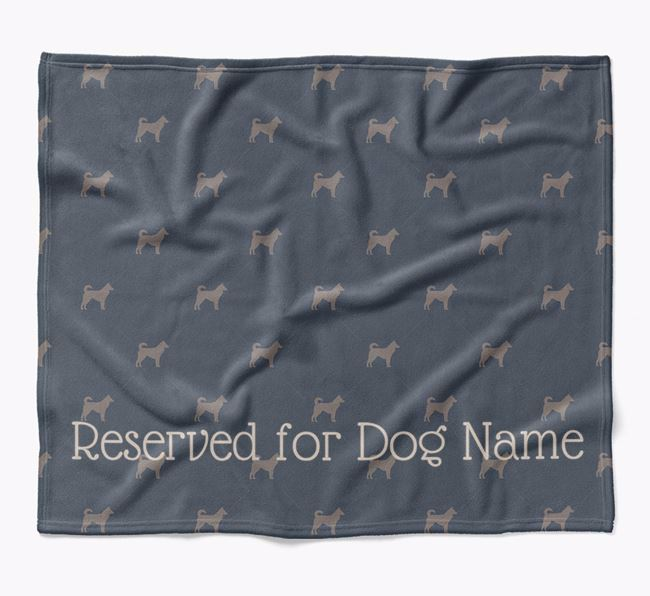 Personalised 'Reserved For' Blanket with Canaan Dog Silhouette Print