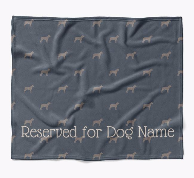 Personalised 'Reserved For' Blanket with Cane Corso Italiano Silhouette Print