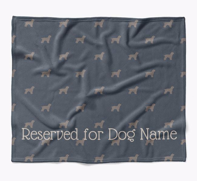 Personalised 'Reserved For' Blanket with Cavapoo Silhouette Print