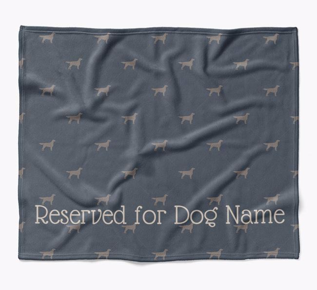Personalised 'Reserved For' Blanket with English Setter Silhouette Print