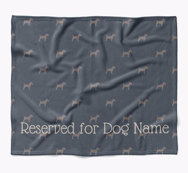 Personalised 'Reserved For' Blanket with Fox Terrier Silhouette Print