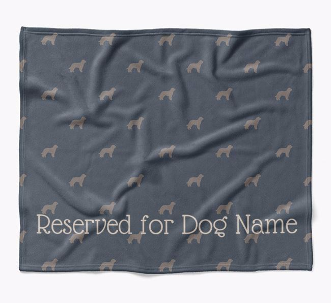 Personalised 'Reserved For' Blanket with Goldendoodle Silhouette Print