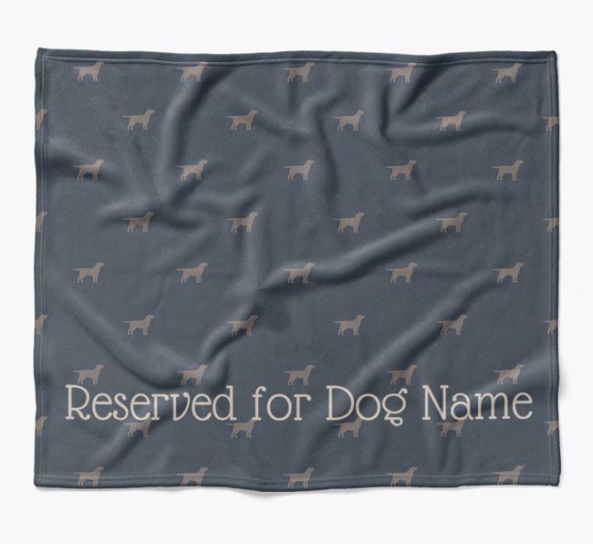 Personalised 'Reserved For' Blanket with Golden Labrador Silhouette Print