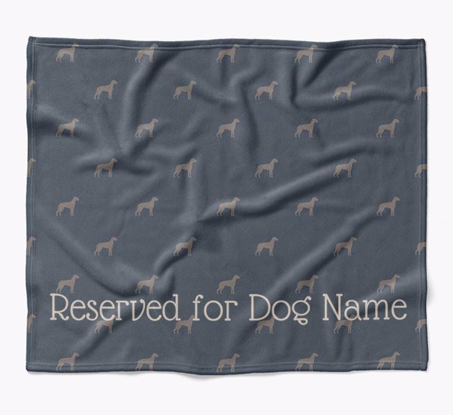Personalised 'Reserved For' Blanket with Great Dane Silhouette Print