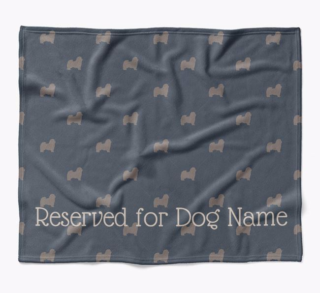 Personalised 'Reserved For' Blanket with Havanese Silhouette Print