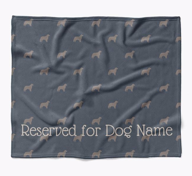 Personalised 'Reserved For' Blanket with Hovawart Silhouette Print