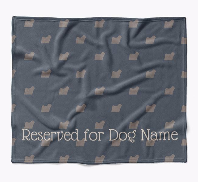 Personalised 'Reserved For' Blanket with Hungarian Puli Silhouette Print