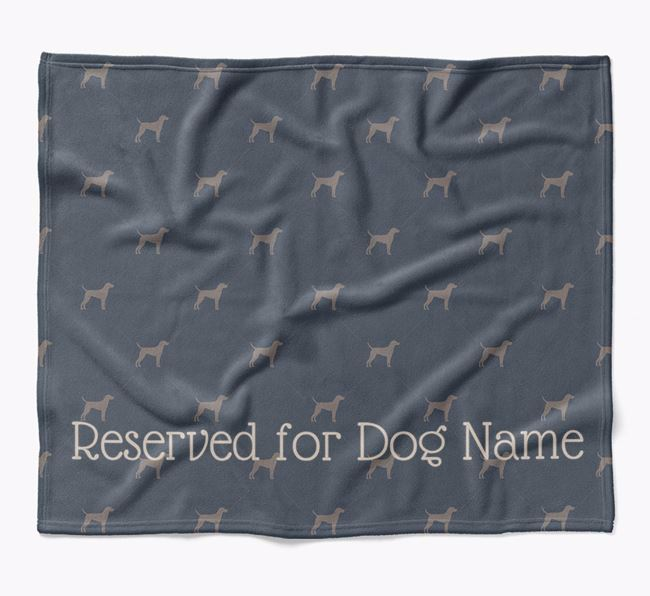 Personalised 'Reserved For' Blanket with Hungarian Vizsla Silhouette Print
