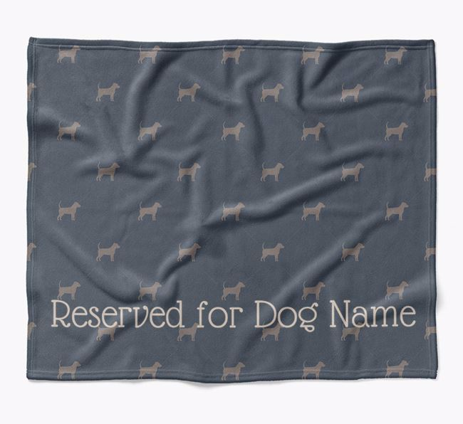 Personalised 'Reserved For' Blanket with Jackahuahua Silhouette Print
