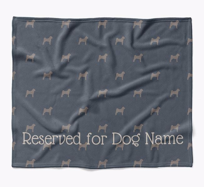 Personalised 'Reserved For' Blanket with Jug Silhouette Print