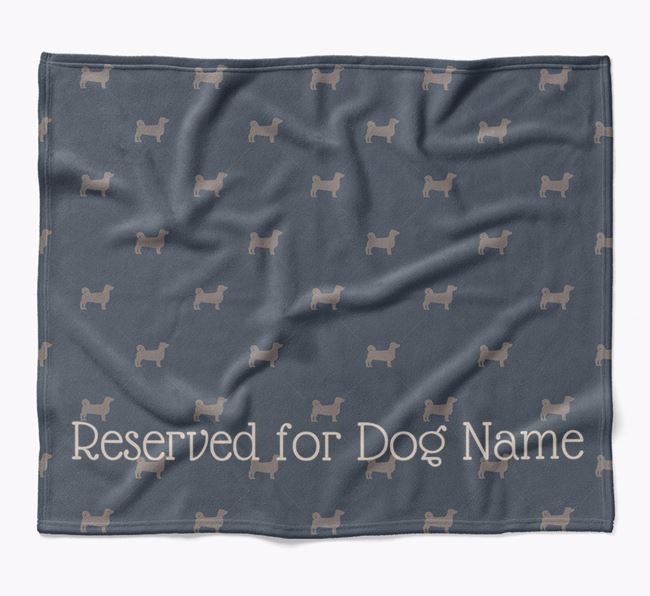 Personalised 'Reserved For' Blanket with Kokoni Silhouette Print