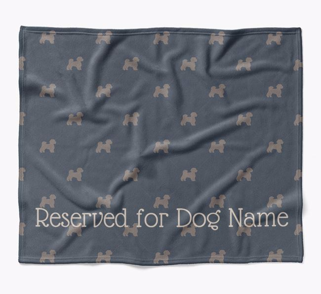 Personalised 'Reserved For' Blanket with Lachon Silhouette Print