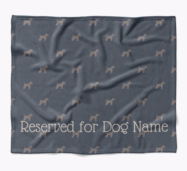 Personalised 'Reserved For' Blanket with Lakeland Terrier Silhouette Print