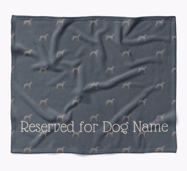 Personalised 'Reserved For' Blanket with Lurcher Silhouette Print