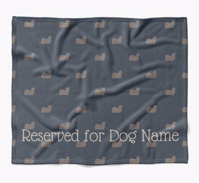 Personalised 'Reserved For' Blanket with Maltese Silhouette Print