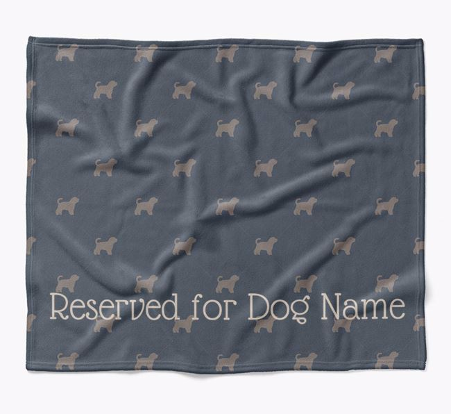 Personalised 'Reserved For' Blanket with Malti-Poo Silhouette Print