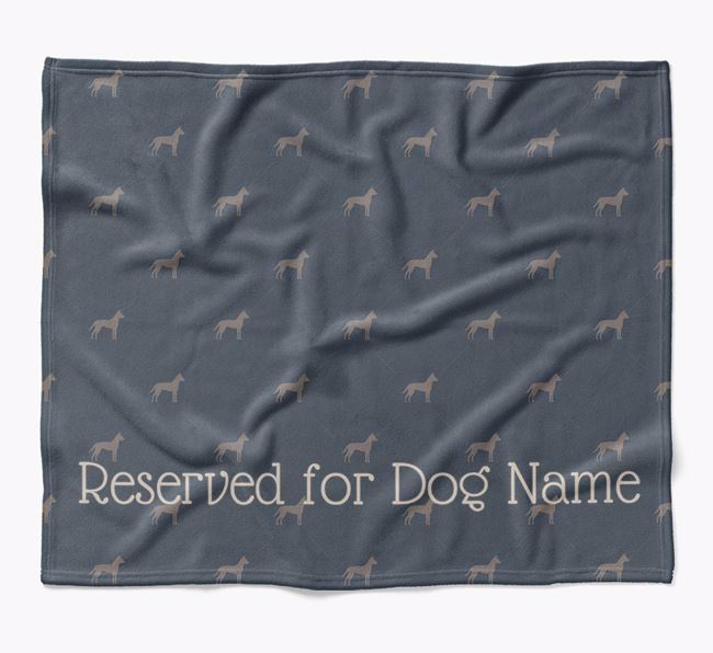 Personalised 'Reserved For' Blanket with Dog Silhouette Print