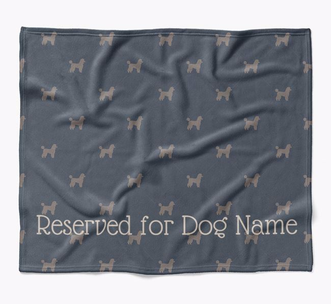 Personalised 'Reserved For' Blanket with Miniature Poodle Silhouette Print