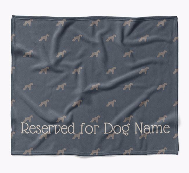 Personalised 'Reserved For' Blanket with Miniature Schnauzer Silhouette Print