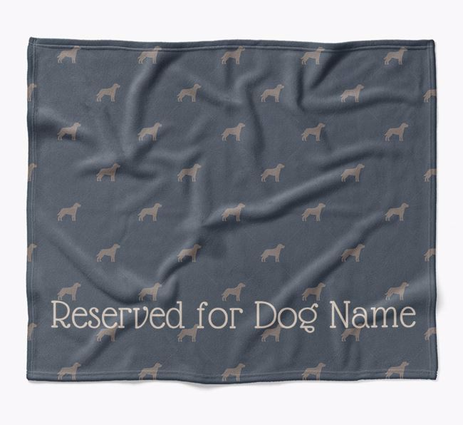 Personalised 'Reserved For' Blanket with Mixed Breed Silhouette Print