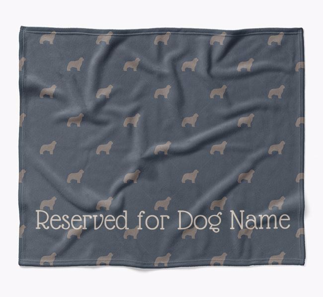 Personalised 'Reserved For' Blanket with Newfoundland Silhouette Print