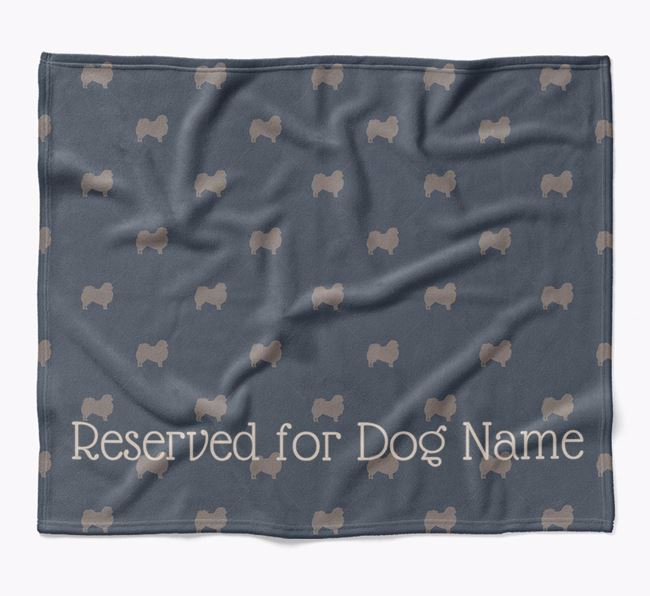 Personalised 'Reserved For' Blanket with Pekingese Silhouette Print