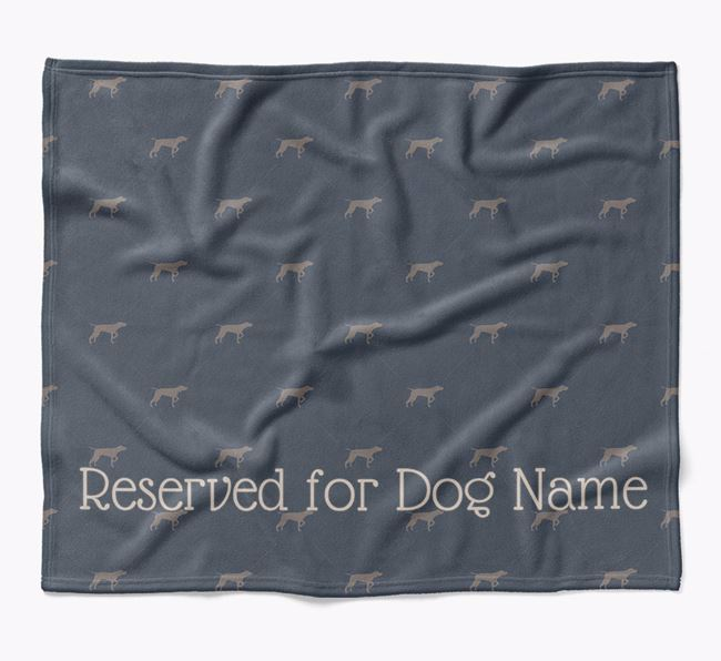 Personalised 'Reserved For' Blanket with Pointer Silhouette Print