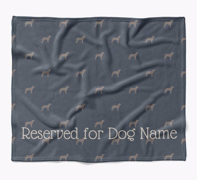 Personalised 'Reserved For' Blanket with Rottweiler Silhouette Print