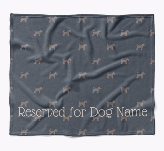 Personalised 'Reserved For' Blanket with Schnoodle Silhouette Print