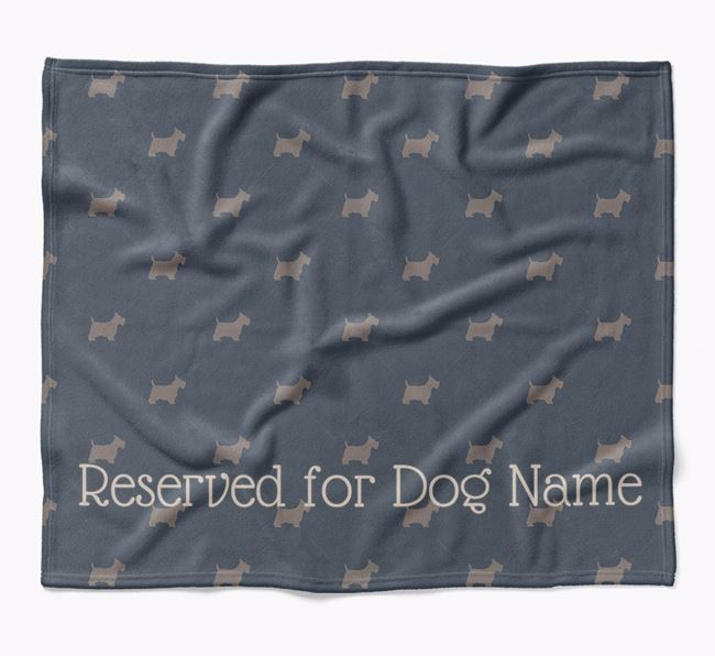 Personalised 'Reserved For' Blanket with Scottish Terrier Silhouette Print