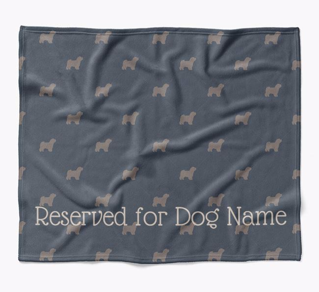 Personalised 'Reserved For' Blanket with Shih-poo Silhouette Print
