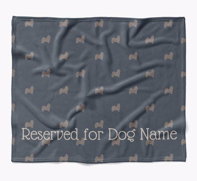 Personalised 'Reserved For' Blanket with Shih Tzu Silhouette Print
