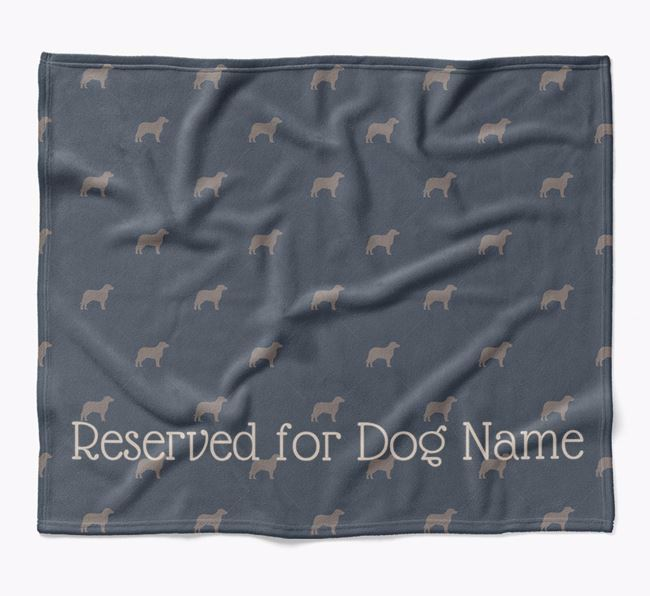 Personalised 'Reserved For' Blanket with Siberian Cocker Silhouette Print